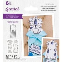 Crafter's Companion - Gemini - Stamp and Die - You're The Top Dog!