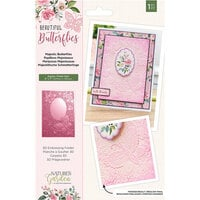 Crafter's Companion - Natures Garden Collection - 3D Embossing Folder - Majestic Butterflies