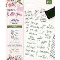 Crafter's Companion - Natures Garden Collection - Clear Acrylic Stamps - Just to Say