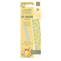 Crafter's Companion - Natures Garden Collection - Embossing Border Folder - Bees and Flowers