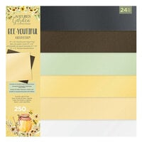 Crafter's Companion - Natures Garden Collection - 12 x 12 Luxury Pearlescent Card Pad - Bee-Youtiful