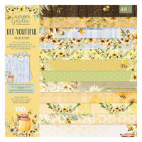 Crafter's Companion - Natures Garden Collection - 12 x 12 Paper Pad - Bee-Youtiful