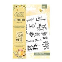 Crafter's Companion - Natures Garden Collection - Clear Acrylic Stamps - Bee-Youtiful Sentiments