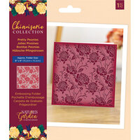 Crafter's Companion - Chinoiserie Collection - Embossing Folder - Pretty Peonies