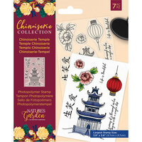 Crafter's Companion - Chinoiserie Collection - Clear Photopolymer Stamps - Chinoiserie Temple