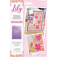 Crafter's Companion - Lily Collection - 3D Embossing Folder - Decadent Lilies