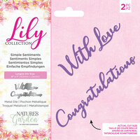Crafter's Companion - Lily Collection - Dies - Simple Sentiments