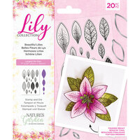 Crafter's Companion - Lily Collection - Clear Acrylic Stamp and Die Set - Beautiful Lilies