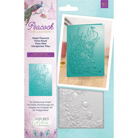 Crafter's Companion - Peacock Collection - 3D Embossing Folder - Regal Peacock