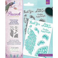 Crafter's Companion - Peacock Collection - Clear Acrylic Stamps - Pretty Plumage