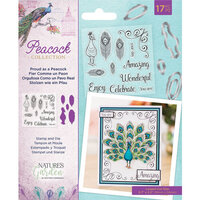 Crafter's Companion - Peacock Collection - Clear Acrylic Stamp and Die Set - Proud as a Peacock