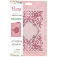 Crafter's Companion - Peony Collection - Cut and Embossing Folder - Trellis Vines
