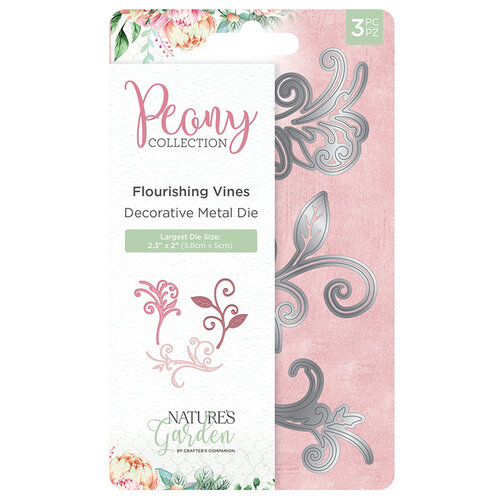 Crafter's Companion - Peony Collection - Metal Dies - Flourishing Vines