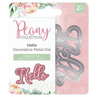 Crafter's Companion - Peony Collection - Metal Dies - Hello
