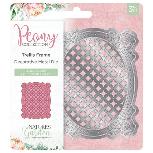 Crafter's Companion - Peony Collection - Metal Dies - Trellis Frame