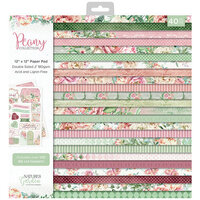Crafter's Companion - Peony Collection - 12 x 12 Paper Pad
