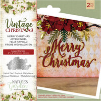 Crafter's Companion - Vintage Christmas Collection - Dies - Merry Christmas