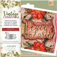 Crafter's Companion - Vintage Christmas Collection - Dies - Peace on Earth