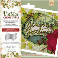 Crafter's Companion - Vintage Christmas Collection - Dies - Season's Greetings