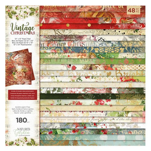 Crafter's Companion - Vintage Christmas Collection - 12 x 12 Paper Pad