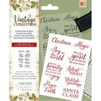Crafter's Companion - Vintage Christmas Collection - Clear Acrylic Stamps - Christmas Magic