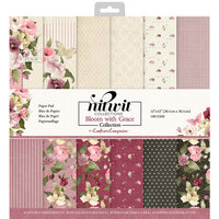 Crafter's Companion - 12 x 12 Paper Pad - Bloom With Grace