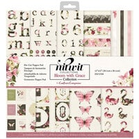 Crafter's Companion - 12 x 12 Die Cut Paper Pad - Bloom With Grace