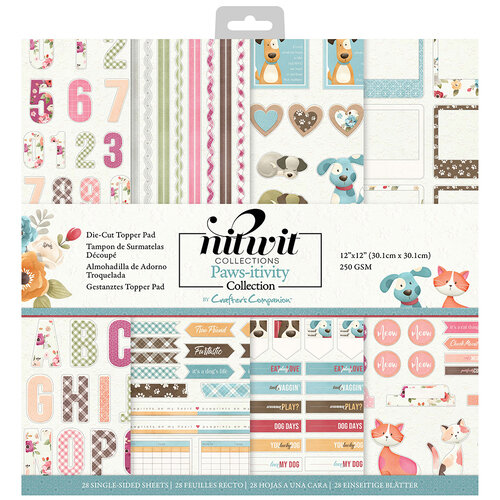 Crafter's Companion - 12 x 12 Die Cut Paper Pad - Pawsitivity