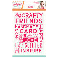 Crafter's Companion - Crafty Fun Collection - Embossing Folder - Crafty Friends