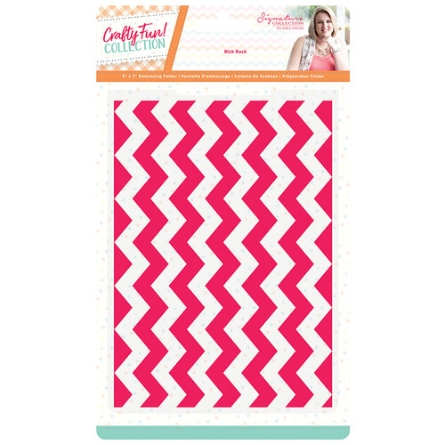 Crafter's Companion - Crafty Fun Collection - Embossing Folder - Rick Rack