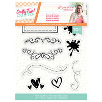 Crafter's Companion - Crafty Fun Collection - Clear Acrylic Stamps - Accents and Frames
