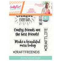 Crafter's Companion - Crafty Fun Collection - Clear Acrylic Stamps - Craft Life