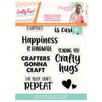 Crafter's Companion - Crafty Fun Collection - Clear Acrylic Stamps - Happiness is Handmade