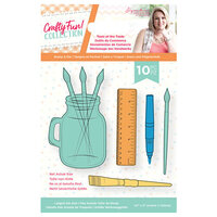Crafter's Companion - Crafty Fun Collection - Die and Clear Acrylic Stamp Set - Tools of the Trade