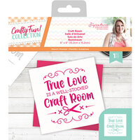 Crafter's Companion - Crafty Fun Collection - Stencil - Craft Room