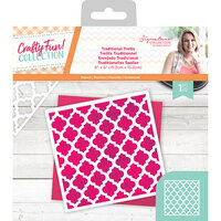 Crafter's Companion - Crafty Fun Collection - Stencil - Traditional Trellis