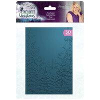 Crafter's Companion - Enchanted Christmas Collection - 3D Embossing Folder - Pine Forest