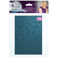 Crafter's Companion - Enchanted Christmas Collection - 3D Embossing Folder - Sparkling Snowfall