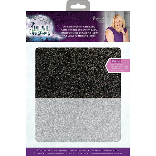 Crafter's Companion - Enchanted Christmas Collection - Luxury Glitter Card - 2 pack