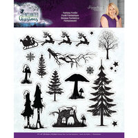 Crafter's Companion - Enchanted Christmas Collection - Clear Acrylic Stamp - Fantasy Forest