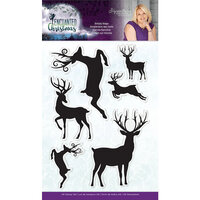 Crafter's Companion - Enchanted Christmas Collection - Clear Acrylic Stamp - Simply Stags