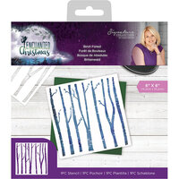 Crafter's Companion - Enchanted Christmas Collection - Stencil - Birch Forest