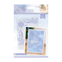 Crafter's Companion - Christmas - Glittering Snowflakes Collection - Embossing Folder - Touch of Winter