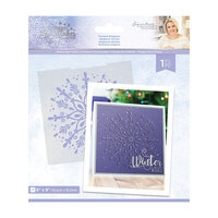 Crafter's Companion - Christmas - Glittering Snowflakes Collection - Embossing Folder - Frosted Elegance