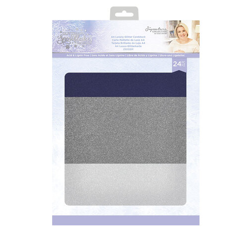 Crafter's Companion - Glittering Snowflakes Collection - Luxury Glitter Card
