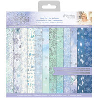 Crafter's Companion - Christmas - Glittering Snowflakes Collection - 12 x 12 Paper Pad
