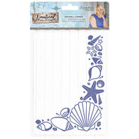 Crafter's Companion - Nautical Collection - Embossing Folder - Seashell Corner