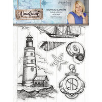 Crafter's Companion - Nautical Collection - Clear Acrylic Stamps - Nautical Elements