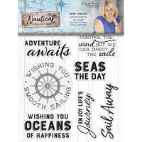 Crafter's Companion - Nautical Collection - Clear Acrylic Stamps - Seas the Day