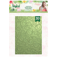 Crafter's Companion - Tropical Collection - 3D Embossing Folder - Tropics Swirls